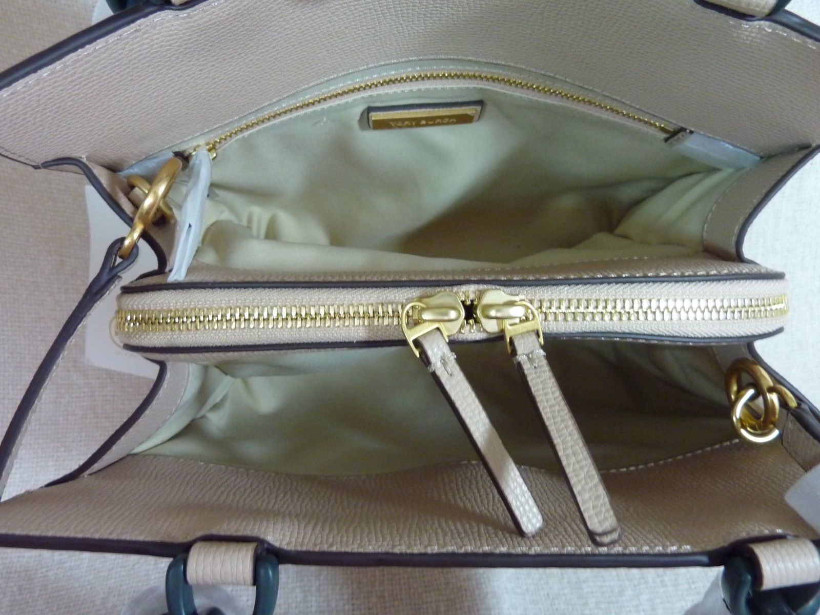 Tory Burch Perfect Sand Leather Small KIRA Tote