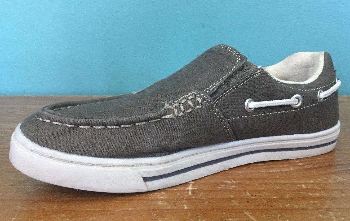 Dexter Comfort Men's Canvas Donovan Shoes - Size 6 W - Brown, Boat Shoes, EUC
