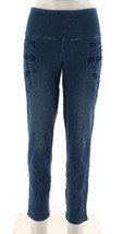 Women with Control Prime Stretch Denim Novelty Jeans Midwash S NEW A301364 - $32.65