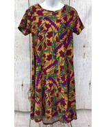 """LuLaRoe (Sz XS) Carly Dress """"Fall Floral Rich Colors"""" Womens High Low He... - $37.05"""