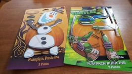 TEENAGE MUTANT NINJA TURTLES or DISNEY FROZEN Pumpkin Push Pins Hallowee... - €11,44 EUR