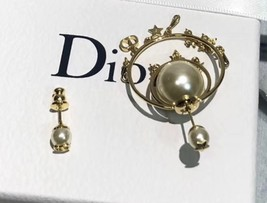 """Authentic Christian Dior """"DIOR TRIBALES"""" Earrings Gold Crystal Star Wasp Charms  image 5"""
