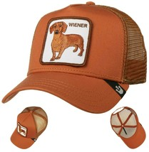 Goorin Bros Snapback Mesh Cap Rust Brown Wiener Dawg Dog Trucker Hat 101-0622