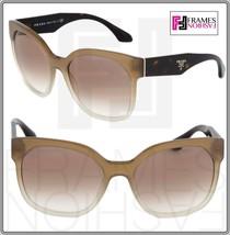 PRADA VOICE Oversized Square PR10R Brown Tortoise Beige Sunglasses 10R Women - $197.01