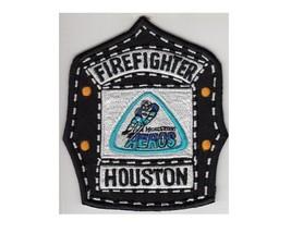 Firefighter Houston Fire Department WHA Houston Aeros Hockey Helmet Shield Patch - $9.99