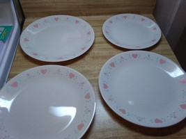 corell pink hearts forever yours plates - $18.95