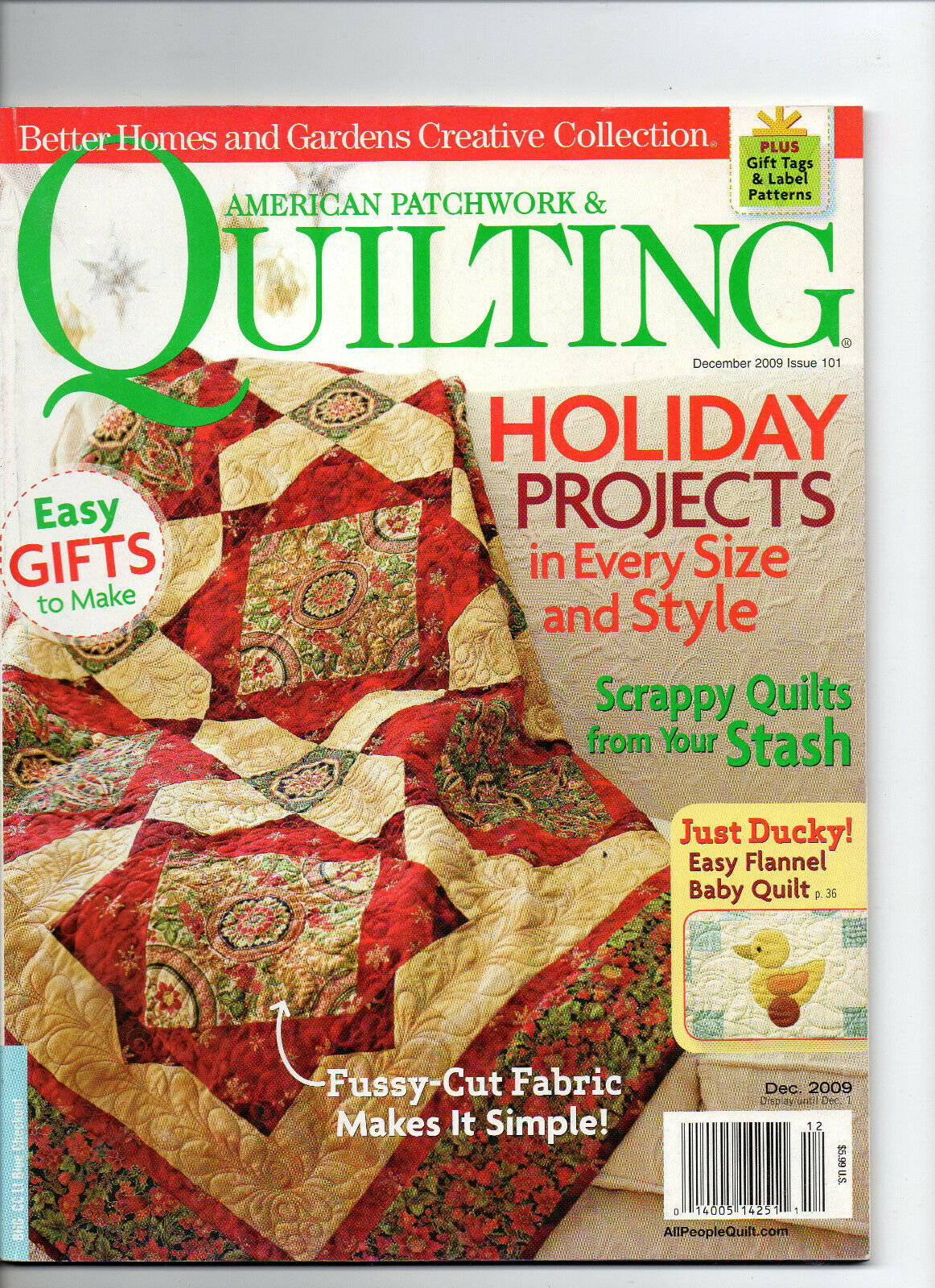 Primary image for Dec 2009/American Patchwork & Quilting Magazine/Preowned