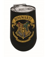 Harry Potter Hogwarts Logo 14 oz Stainless Steel Wine Tumbler Mug - $24.95