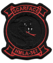USMC HMLA-367 Scarface Night Ops Patch - $11.87