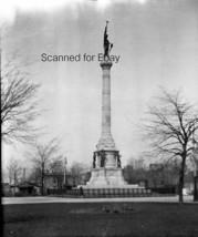 ORIGINAL PHOTO NEGATIVE-1905 Soldiers Monument Muskegon Michigan - $6.50