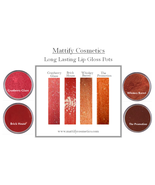 Long Lasting Lip Gloss Pots Moisturizing Lip Balm Mattify Cosmetics Make... - $16.50