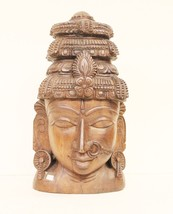 Home Decor Head Statue Wood Hand Carved Vintage Handmade Collectible US259 - $474.05
