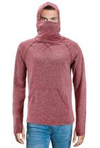 Men's Activewear Ninja Mask Thumb Hole Cuff Hooded Shirt w/ Defect - XL image 1