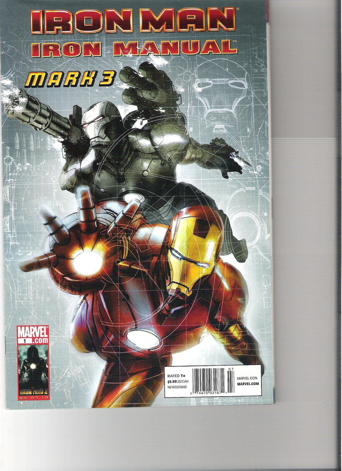 Marvel Iron Man Iron Manual Comic (Mark 3, Number 1 2010) [Single Issue Magaz...
