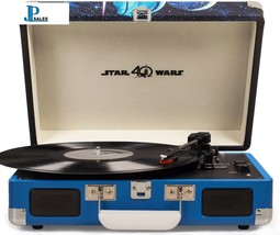 Star Wars Vintage Look Cruiser Deluxe Portable 3-Speed Turntable with Bluetooth - $90.28