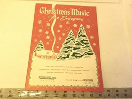 Christmas Music for Everyone - piano solo music book by Rubank, Inc 1937? - $29.99