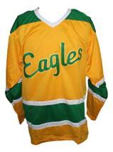 Custom Name # Salt Lake Golden Eagles Retro Hockey Jersey New Yellow Any Size image 4
