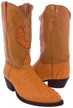 Mens Genuine Honey Mango Crocodile Hornback Cowboy Leather J Toe Western... - $256.49