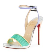 NIB Christian Louboutin Discoport 120mm Red Sole Sandals Heels 7.5 37.5 ... - $595.00