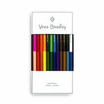 Vera Bradley Colored Pencils Assorted 12 colored pencils (24 colors) NEW... - $10.80