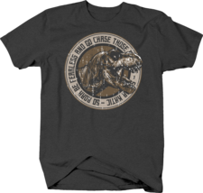 Roar Be Fearless and Go Chase Those Dreams Dinosaur Life Advice Tshirt - $12.75+
