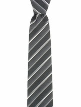 John Ashford Men's EDI Stripe Machine Washable Neck Tie Grey / Multi - $14.84