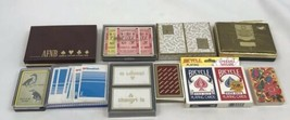 Cards Playing Vintage Lot Deck 2 Decks Bicycle Plastic Case Complete Hoyle - $24.74