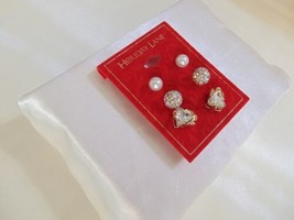 Charter Club Gold-Tone 3-pc. Set Angel Crystal Kiska Pearl Earrings CHR102 $19 - $8.34