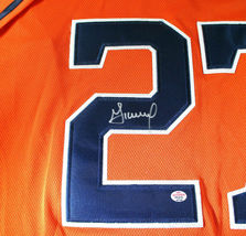 JOSE ALTUVE / AUTOGRAPHED HOUSTON ASTROS ORANGE PRO STYLE BASEBALL JERSEY / COA image 4
