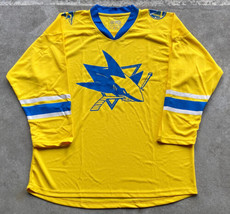 San Jose Sharks NHL Hockey Jersey Sz XL Yellow Promo Franklin Sharks - $29.70
