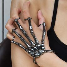 Hand Skull Skeleton Elastic Bracelet Bangle Unique Fashion Style Costume... - $13.99