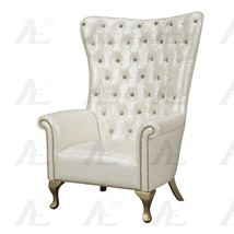 American Eagle AE2605-PW Pearl White Accent Chair Genuine Leather  - $2,251.50
