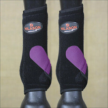 L- Hilason Infra-Tech Horse Rear Hind Leg Sport Boot Medicine Purple U-UR-L - $64.95