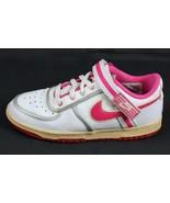 Nike Retro Youth Bambina Sneakers pelle Bianco Scarpe Lacci Rosa 2008 Mi... - $30.22