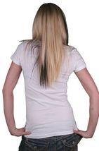 Iron Fist Damen Weiß Hier Kommt Ärger Star Streifen Motorrad Helm T-Shirt image 3