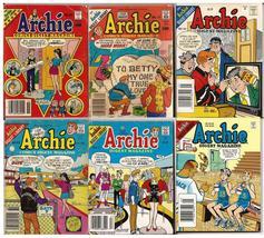 Archie Comics Digest Magazine Lot #55, 71, 89, 117, 141, & 221 Jughead Reggie  - $11.95