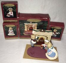 Bearingers 1993 Hallmark Christmas Ornaments Bears Flickering Fireplace ... - $9.79