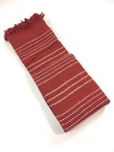 STITCH de rayas tejido rojo 100% algodón con flecos Doble Manta 229cmx254cm - $41.70