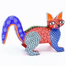 Handmade Alebrijes Oaxacan Copal Wood Carving Painted Folk Art Fox Figurine