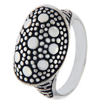 Designer 925 Sterling Silver Pebble Ring Size 7 »R19 - $29.50