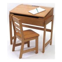 Lipper Child's Slanted Top Desk & Chair, Pecan Finish - $135.00