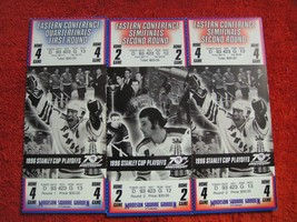 LOT OF 3 NY Rangers 1996 Stanley Cup Playoffs Quarter/Semifinals Ticket ... - $22.28