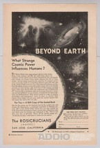 ROSICRUCIANS Beyond Earth '40s PRINT AD vintage advertisement page AMORC... - $9.74