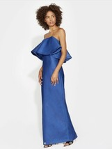 NWT Halston Heritage Dress Sz 8 Evening Collection Blue MKK161939 ORIG $695 - $158.35