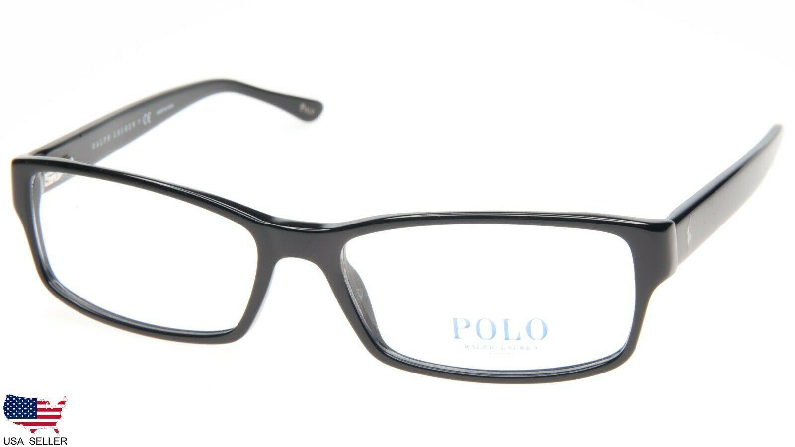861782f0eb6f1 NEW POLO RALPH LAUREN PH 2065 5001 SHINY BLACK EYEGLASSES FRAME 56-16-140  B31mm -  98.98