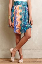 New $138 Anthropologie Mandara Silk Skirt by HD in Paris SMALL - $35.64
