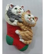 2001 Hallmark Keepsake Mom and Dad Cats Christmas Ornament - $14.99