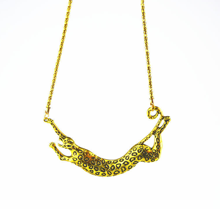 Necklace Alloy Leopard Statement Necklaces Pendants Vintage
