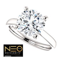 3.00 Carat (9mm) NEO Moissanite Solitaire Ring in 14K Gold (with NEO war... - $1,795.00