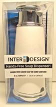 InterDesign White 8 Oz Hands Free Soap Dispenser - New - $27.23